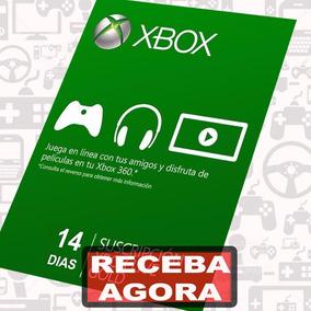 Xbox Live Gold Cartão 14 Dias Envio Imediato Xbox One/360