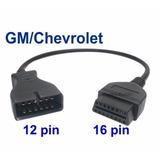 2 Piezas Cable Adaptador Gm Chevrolet 12 A 16 Pines Obd2