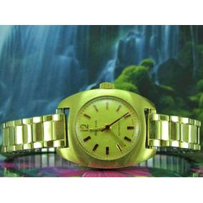 Relógio Bulova Accutron Z999981 Automatico, Banhado A Ouro.