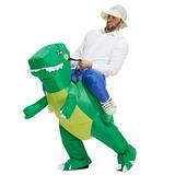 Fantasia Inflável De Dinossauro Modelo Adulto Pronta Entrega