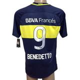 Camiseta Boca Juniors Match Benedetto # 9 Oficial 2016-2017