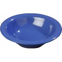 Plato Melamina Tazón Con Borde 7.24 Carlisle Azul