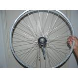 Llanta De Aluminio Trasera Bicicleta Playera Rodado 26