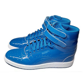 Tenis Puma Sky Ii Hi Patent Emboss Azul - 28 Mx - Originales