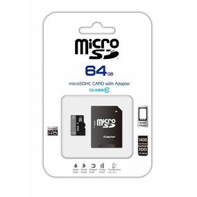 Memoria Micro Sd 64 Gb Clase 10 Con Adaptador Uhs-i Tablet