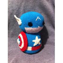 Capitán América Tejido Lana Crochet