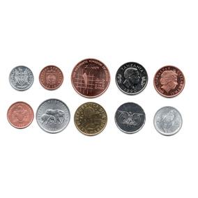 Lote 10 Monedas Paises Raros Africa Asia Europa Sin Circular