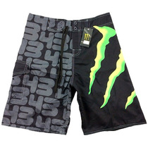 Short Boardshort Monster - Traje De Baño Surf Board Bermuda