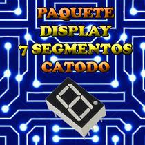 Paquete (10 Pzas) Display 7 Segmentos Catodo Comun Rojo