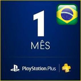 Cartão Psn Playstation Plus Assinatura 1 Mês Brasil Ps3 Ps4