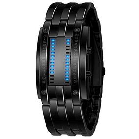 Reloj Binario Azul Del Hombre Del Reloj De Los Deportes Del