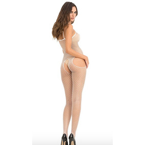 Baby Doll Body Suit Erotico Muy Sexy Talle Unico Blanco