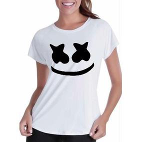 Camisa Baby Look Feminina Dj Marshmello
