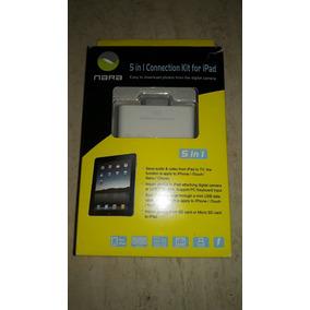 Conector 5en 1 Para Ipad Audio/video,sd, Micro Sd Puerto Usb