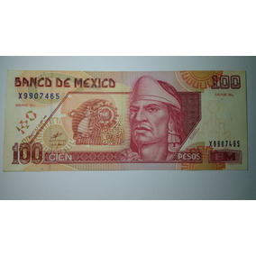 Billete De 100 Pesos Papel Grande Antiguo