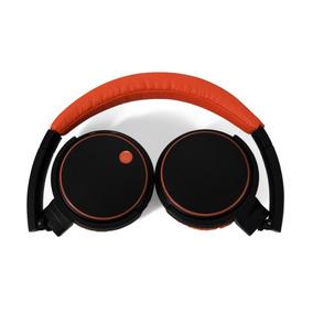Auricular Noblex Bluetooth Negro Y Naranja Hp332bo