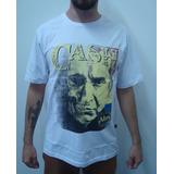 Camiseta Johnny Cash - Caveira Country Branca