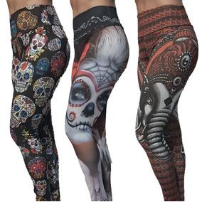 Calça Legging Caveiras Mexicana Leg