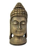 Estatueta Cabeça Buda Hindu Dourado Em Pé Dourado 232
