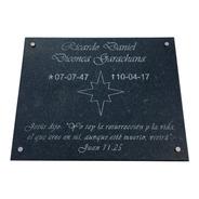 Placa De Mármol. Grabada, Lapidas, Cementerio, Nicho, 80x60