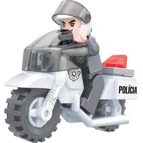 Brinquedo De Montar Policia Moto Policial 26 Pçs Play Cis