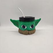 Mate Baby Yoda Impreso En 3d