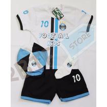 Kit 4 Peças Conjunto Futebol Grêmio Para Meninos