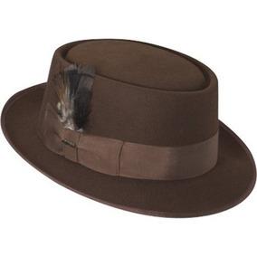 Gorra Lana Scala Hombres De Fieltro Porkpie Hat Rust 308421eeaf8