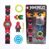 Reloj Ninjago Heroes, Legos Con 1 Figuras Digital Para Niños