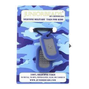 Placa Identificación Militar Juniorbeads Collar Dentición Se