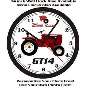 Rueda De Caballo Gt14 Tractor Reloj De Pared-libre Us Ship!