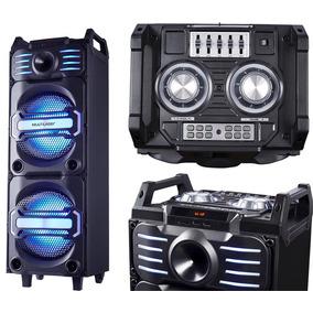 Caixa De Som Amplificada Bluetooth Torre Mic Sd 350w Rms