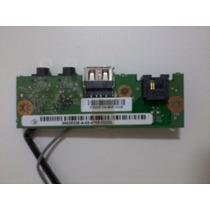 Placa De Audio + Usb Notebook Positivo Z63 Com Cabo