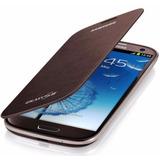 Capa Protetora Original Flip Cover - Galaxy S3 - Marrom
