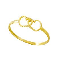 Anel Coração Duplo Infinito Em Ouro 18k 750