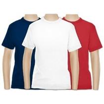 Camiseta Cores Tecido Dry Fit 100% Poliester Kit Com 3 Peças