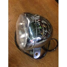Farol Custom Chopper Bobber Cafe Racer Cromado Auxiliar
