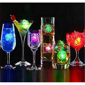 Hielos Luminosos Luz Led Fiestas Bebidas Bodas Decoracion
