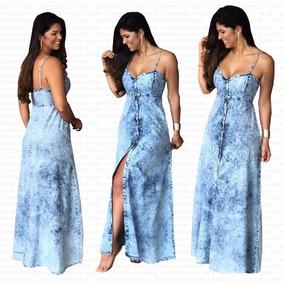 f7f98f5d5 Kit Vestidos Jeans Femininos - Vestidos Casuais Femininas Azul aço ...