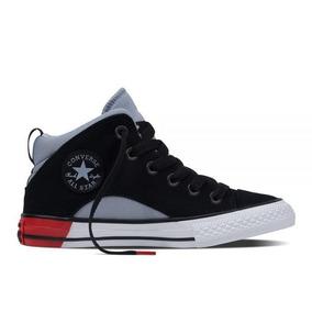 zapatillas converse niños negras