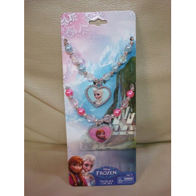 Colar Frozen Princesa Rainha Anna Elsa Disney Kit Acessório