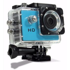 Camera Sport 1080 Filmadora Prova D` Água Capacete Bake Moto