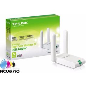 Placa De Red Wifi Usb 300mpbs Tp Link Tl Wn822n 2 Antenas 24
