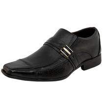 Sapato Masculino Social Liso Com Fivela Preto Parthenon Shoe