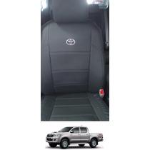 Capa Banco Couro Ecológico Courvin Toyota Hilux 2006 A 2015