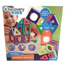 Juguete Discovery Kids 24 Juego De Piezas De Baldosas Magné