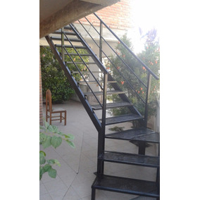 vendo escalera metlica exterior con puerta balcn