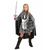 Disfraz De Caballero Medieval Historico Guerrera Para Niñas