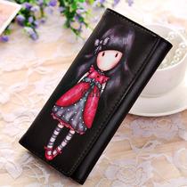 Billetera Mujer Anime Sras/srtas Girl Pu Diseño Coreano