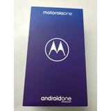 Moto One Nuevo En Caja 64 Gb 4gb Ram Liberado Protector